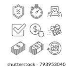 set of present delivery  shield ... | Shutterstock .eps vector #793953040
