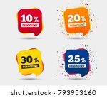 sale discount icons. special... | Shutterstock .eps vector #793953160