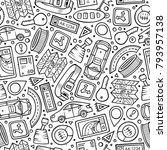cartoon cute hand drawn... | Shutterstock .eps vector #793957138