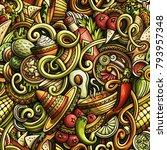 cartoon cute doodles mexican...   Shutterstock .eps vector #793957348