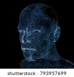 lines connected to thinkers ... | Shutterstock . vector #793957699