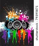 grunge party background | Shutterstock .eps vector #79395871