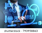 concept of agile software... | Shutterstock . vector #793958863