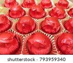 chocolate red pralines | Shutterstock . vector #793959340