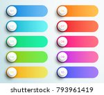 number bullet points 1 to 10... | Shutterstock .eps vector #793961419