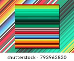 mexican blanket stripes... | Shutterstock .eps vector #793962820