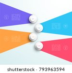 infographic number 1 to 4 flat... | Shutterstock .eps vector #793963594