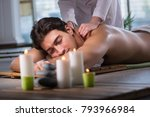 young handsome man during spa...   Shutterstock . vector #793966984