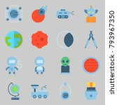 icons set about universe. with... | Shutterstock .eps vector #793967350