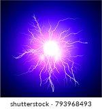 blue ball lightning | Shutterstock .eps vector #793968493