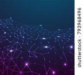 blockchain network concept  ...