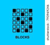 block chain flat icon. blocks... | Shutterstock .eps vector #793969246