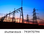the power supply facilities of... | Shutterstock . vector #793970794