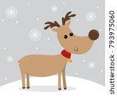 cute reindeer design | Shutterstock .eps vector #793975060