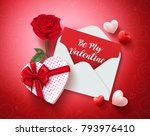 be my valentine greeting card... | Shutterstock .eps vector #793976410