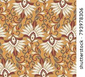 floral vector seamless pattern. ... | Shutterstock .eps vector #793978306