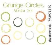 round painted frame border set... | Shutterstock .eps vector #793978570
