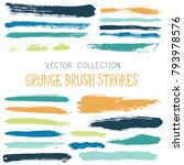 hipster paint brush strokes... | Shutterstock .eps vector #793978576