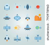 icon set about universe. with... | Shutterstock .eps vector #793978960