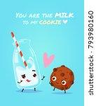 romantic valentine's day card.... | Shutterstock .eps vector #793980160