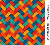 herringbone wallpaper. abstract ... | Shutterstock .eps vector #793982518