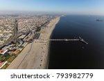 aerial view of belmont pier in... | Shutterstock . vector #793982779
