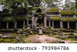 ta prohm temple  siem reap ...   Shutterstock . vector #793984786