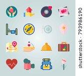 icon set about wedding. with... | Shutterstock .eps vector #793986190