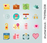 icon set about wedding. with... | Shutterstock .eps vector #793986208