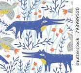 vector floral seamless pattern...   Shutterstock .eps vector #793989520