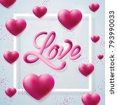 happy valentines day... | Shutterstock .eps vector #793990033