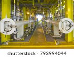oil and gas industry. view of...   Shutterstock . vector #793994044