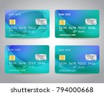 realistic detailed credit cards ... | Shutterstock .eps vector #794000668