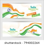 republic day banner design... | Shutterstock .eps vector #794002264