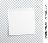 white  gray sticky note... | Shutterstock .eps vector #794003314