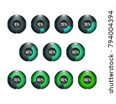3d glass button. loading... | Shutterstock .eps vector #794004394