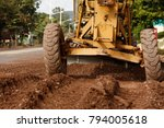 road being resurfaced and... | Shutterstock . vector #794005618