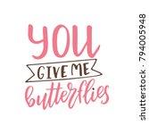 valentine day poster. hand... | Shutterstock .eps vector #794005948
