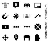 origami style icon set  ... | Shutterstock .eps vector #794006074
