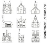 variations of christian churchs ... | Shutterstock .eps vector #794006470