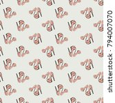 fashion pattern with pink nude... | Shutterstock .eps vector #794007070