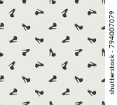 fashion pattern with high heel... | Shutterstock .eps vector #794007079