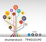 food flat icon concept. vector... | Shutterstock .eps vector #794010190