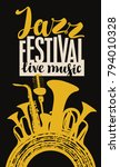 vector poster for a jazz... | Shutterstock .eps vector #794010328