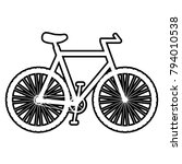 bicycle   vector icon without ... | Shutterstock .eps vector #794010538