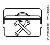 toolbox   vector icon without ... | Shutterstock .eps vector #794010568