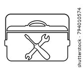 toolbox   vector icon without ... | Shutterstock .eps vector #794010574