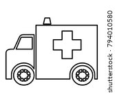 ambulance   vector icon without ... | Shutterstock .eps vector #794010580