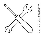 crossed wrench and screwdriver  ... | Shutterstock .eps vector #794010628