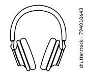 headphones   vector icon... | Shutterstock .eps vector #794010643